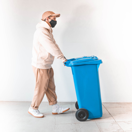 Taking out/in waste bins